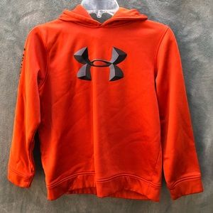 Under Armour Pullover Hoodie Orange Kids